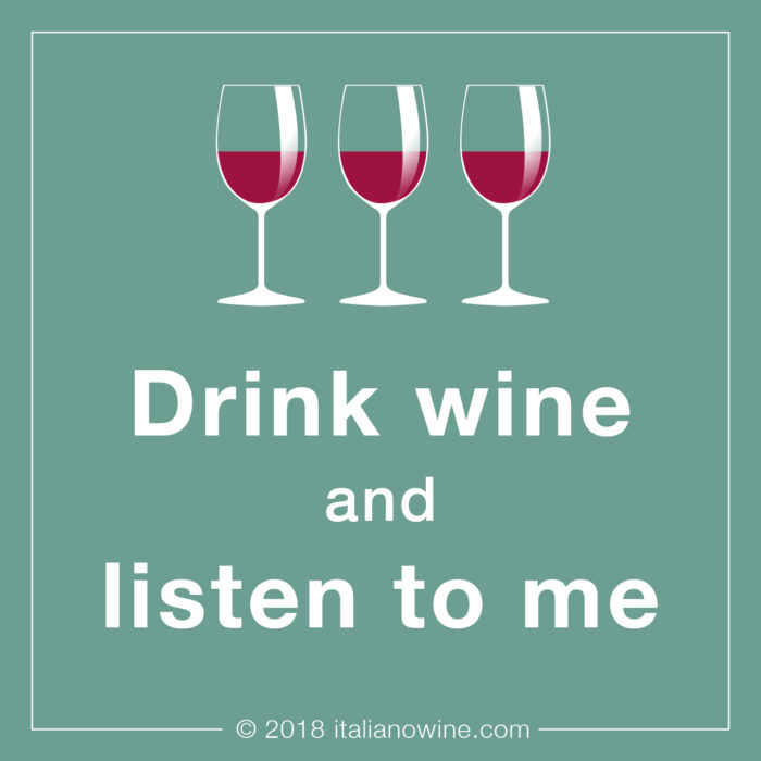 Drink wine a listen to me EN