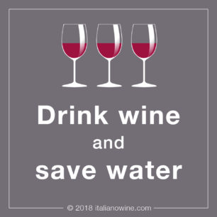 Drink wine and save water JA
