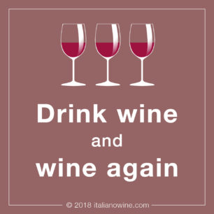 Drink wine and wine again IT